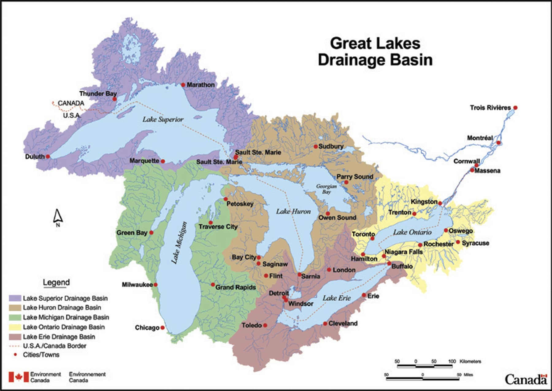 Map Of Canada Great Lakes.Facts About The Lakes The Climate Workspace