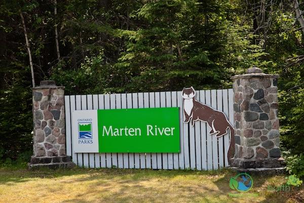 Marten River sign